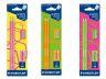 Комплект Staedtler Neon, 2 молива 180 HB+ гума+ острилка, варианти