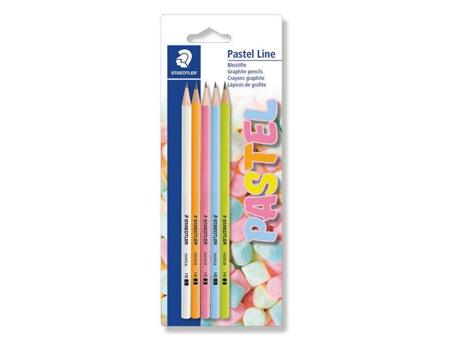 Цветни моливи  Staedtler Pastel Line, HB, 5 броя, блистер