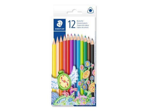Цветни моливи Staedtler Noris Club, 12 цвята, триъгълни