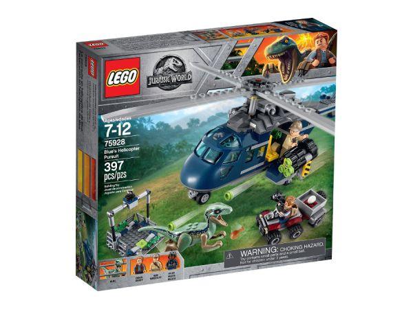 ЛЕГО Джурасик свят - Преследване със син хеликоптер 75928