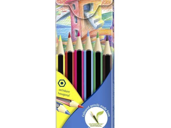 Цветни моливи Staedtler Noris Colour 185, 6 цвята