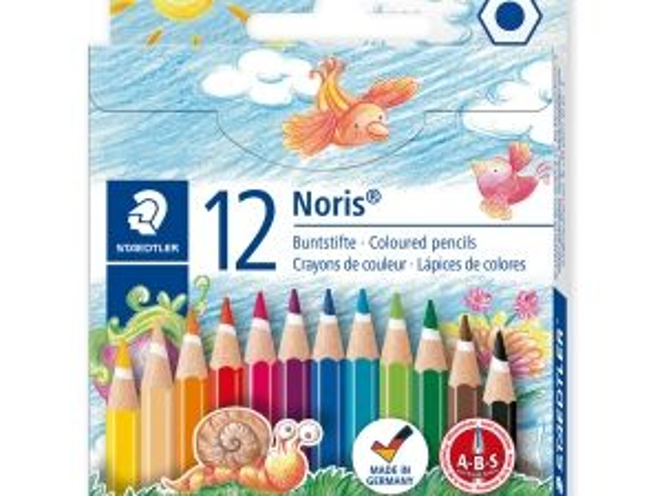 Цветни моливи Staedtler NC 144, 12 цвята къси