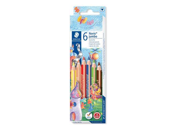Цветни моливи Staedtler Noris Colour 187, 6 цвята