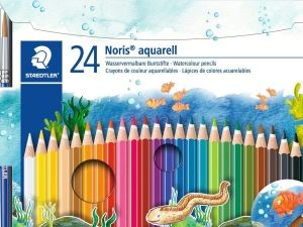 Цветни моливи Staedtler NC Aquarell 144, 24 цвята