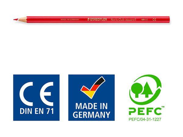 Цветни моливи Staedtler NC 144, 12 цвята в тубус