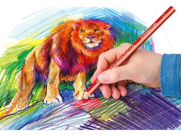 Цветни моливи Staedtler NC 128 Jumbo, 6 цвята