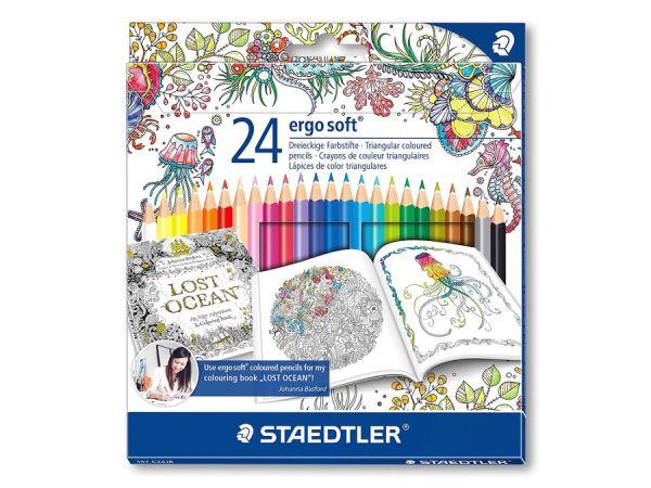 Цветни моливи Staedtler Johanna Basford NC Club 185, 24 цвята